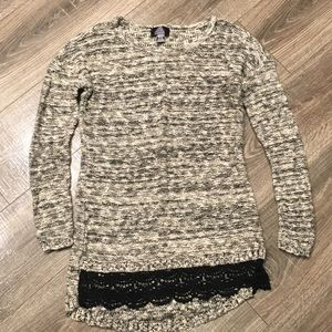 Black and White Maternity Sweater